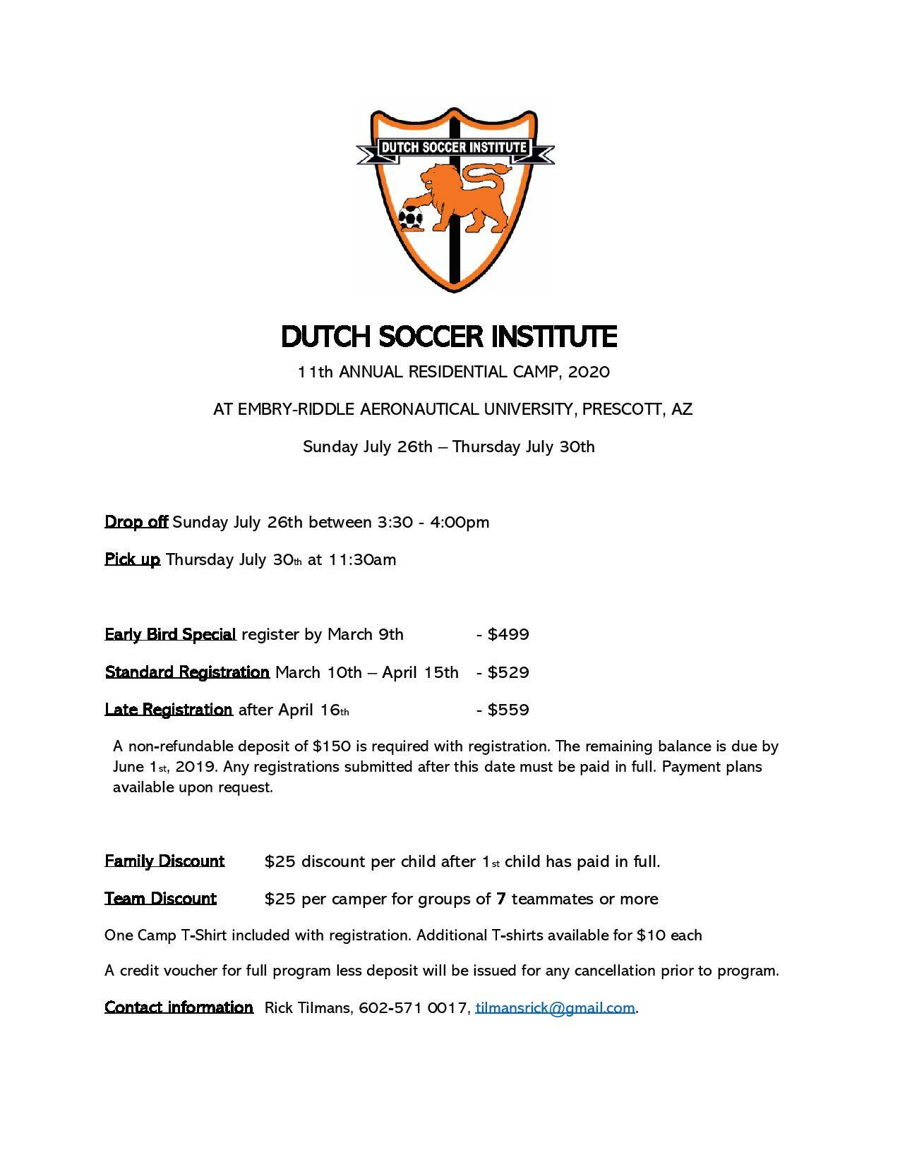 Youth Soccer Summer Camp Arizona