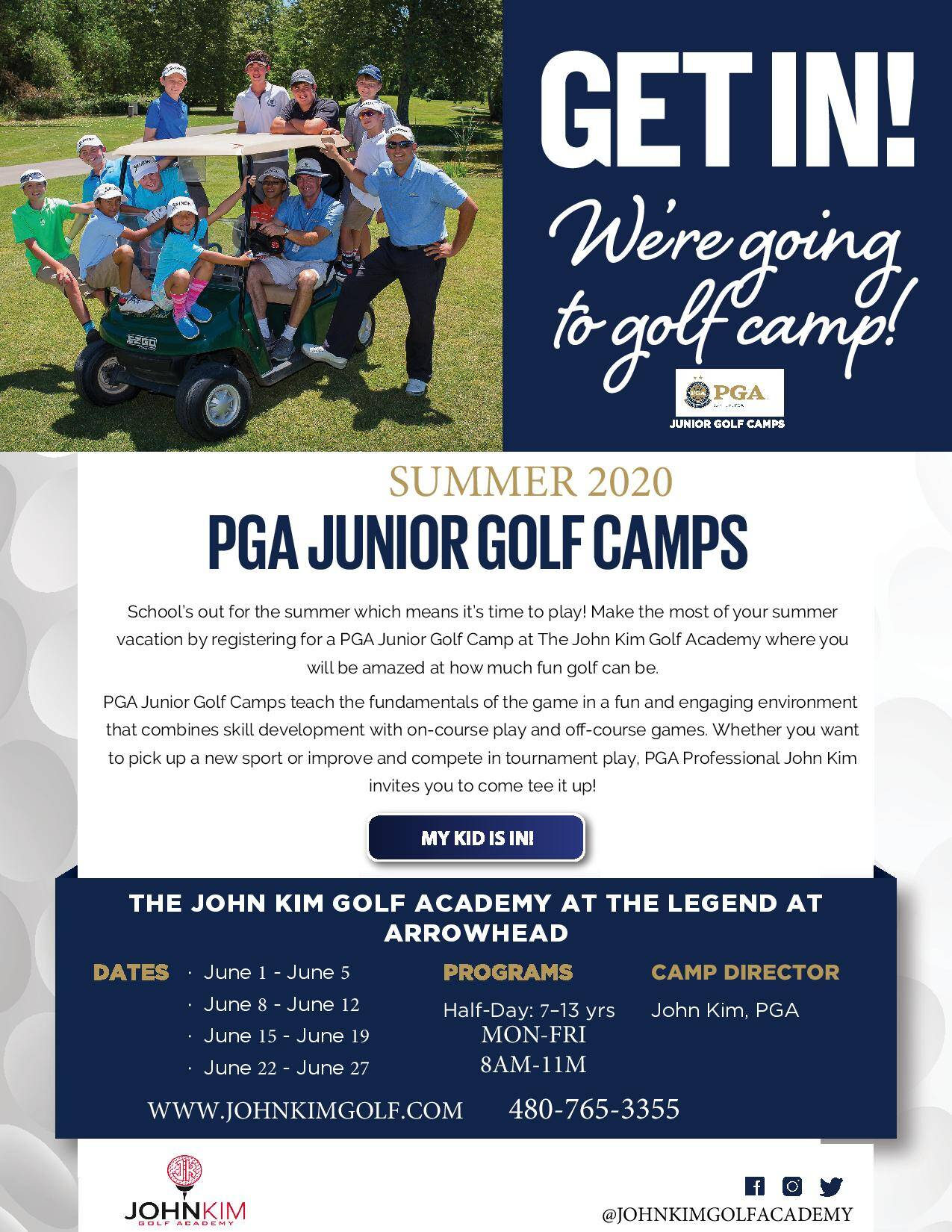 Junior Golf Summer Camp Glendale AZ