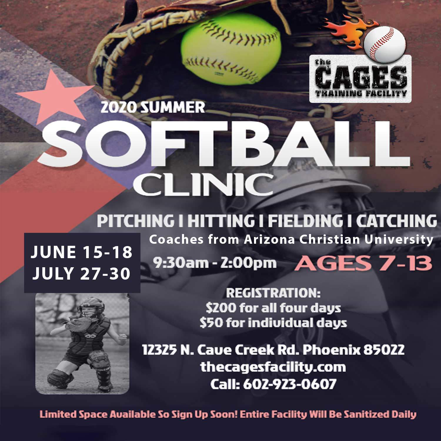 Summer Softball Camp The Cages Phoenix AZ